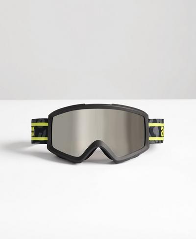 Anon Ski Goggles, Slate Grey Leopard Print | Sweaty Betty