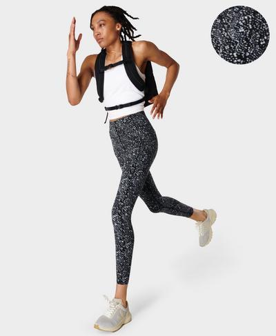 Power High-Waisted Gym Leggings, Blue Celestial Dot Print | Sweaty Betty