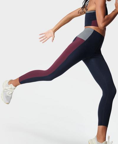 Power Block High-Waisted 7/8 Gym Leggings, Steel Blue | Sweaty Betty