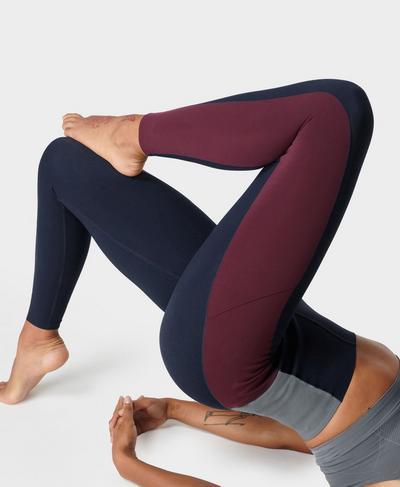 Power Block High-Waisted Gym Leggings, Steel Blue | Sweaty Betty