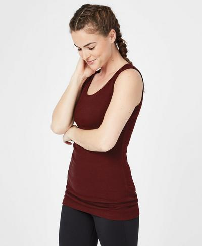 Mantra Workout Tank, Black Cherry | Sweaty Betty