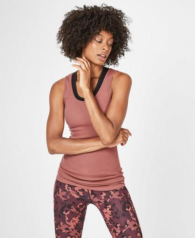 Mantra Workout Tank, RUST | Sweaty Betty