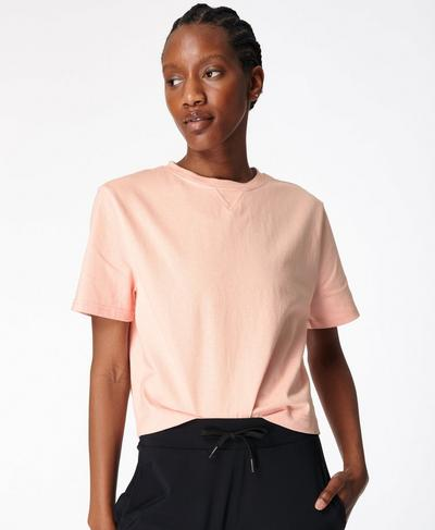 Boxy T-shirt, Antique Pink | Sweaty Betty