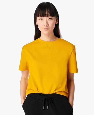 Boxy T-shirt, Golden Yellow | Sweaty Betty