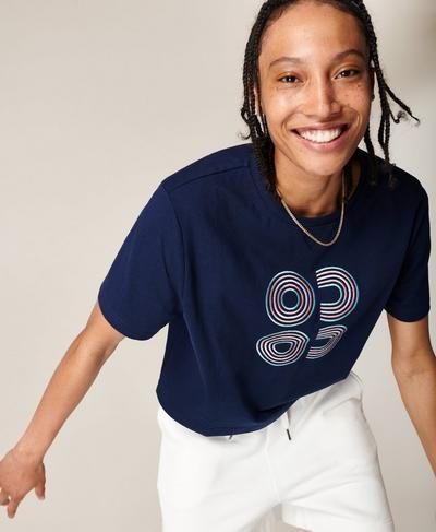 Boxy T-shirt, Navy Blue Multi | Sweaty Betty
