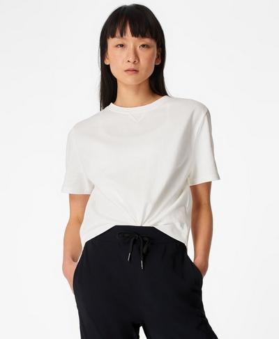 Boxy T-shirt, White | Sweaty Betty