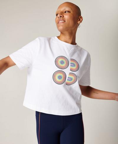 Boxy T-shirt, White A | Sweaty Betty