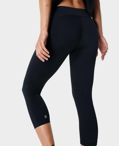 All Day Cropped Workout Leggings, Black | Sweaty Betty