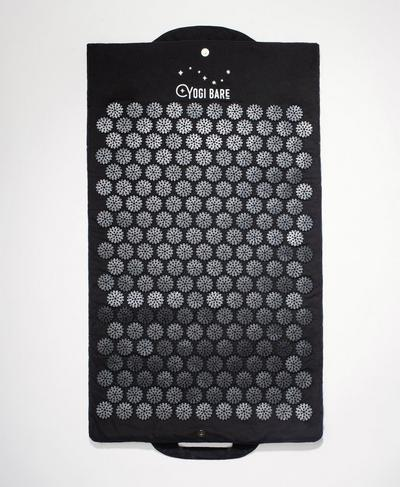 Yogi Bare Acupressure Mat & Pillow Set, Black | Sweaty Betty
