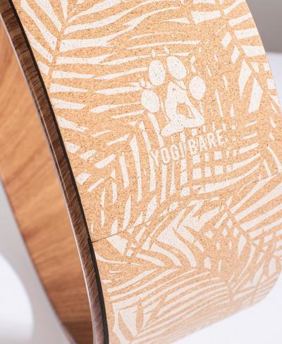 Yogi Bare Yoga Wheel, Cork Brown Palm Print | Sweaty Betty