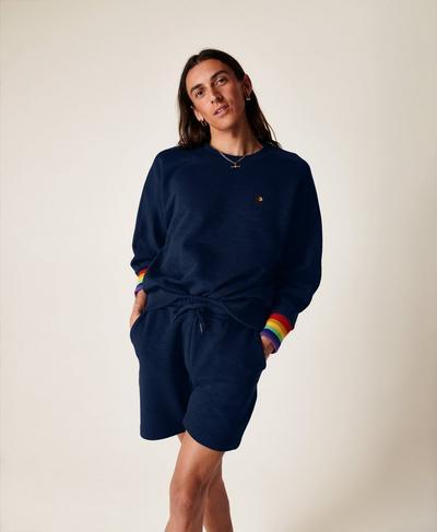 Essentials Shorts, Navy Blue Multi | Sweaty Betty
