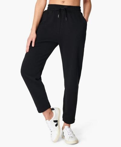Essentials Taper Trouser, Black | Sweaty Betty