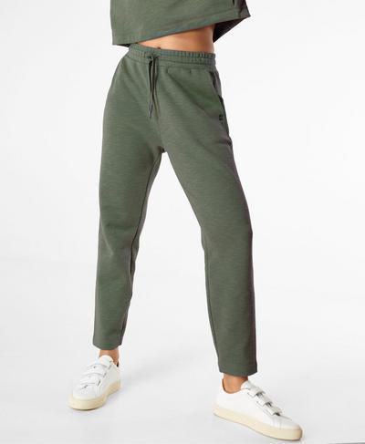Essentials Taper Pants, Heath Green | Sweaty Betty