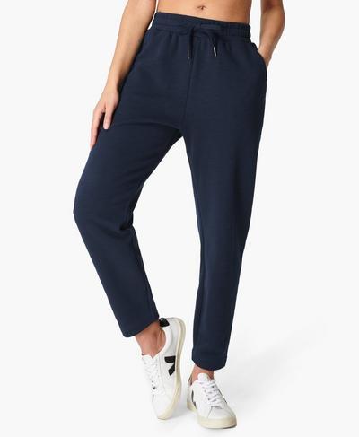 Essentials Taper Trouser, Navy Blue | Sweaty Betty