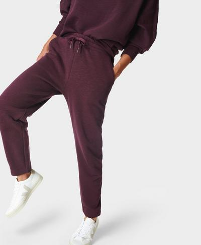 Essentials Taper Trouser, Plum Red | Sweaty Betty