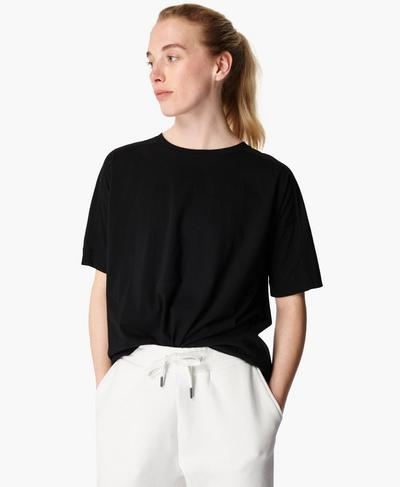 Essentials T-Shirt, Black | Sweaty Betty