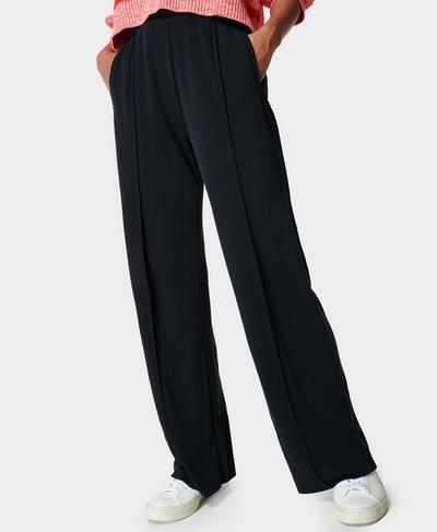 Move Freely Pique Pants, Black | Sweaty Betty
