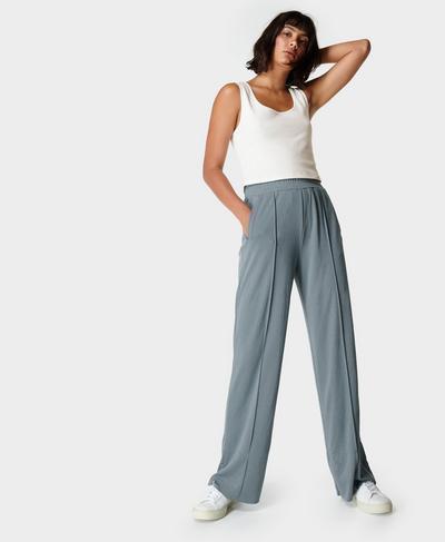 Move Freely Pique Pants, Steel Blue | Sweaty Betty