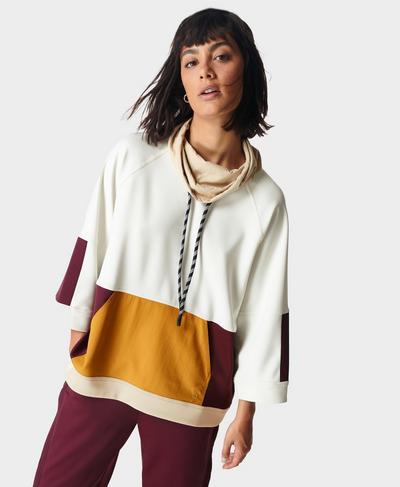 Mix It Up Colourblock Sweatshirt, Lily White Multi | Sweaty Betty