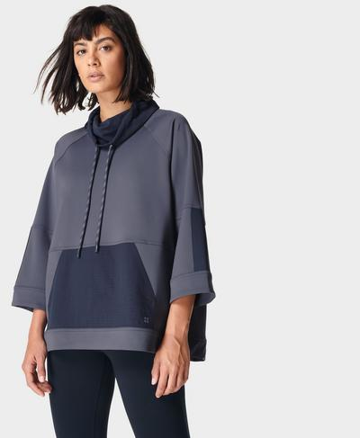 Mix It Up Colourblock Sweatshirt, Naval Grey | Sweaty Betty