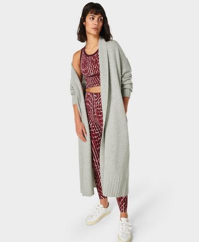 Mountain Wool Cardigan , Mid Grey Marl | Sweaty Betty