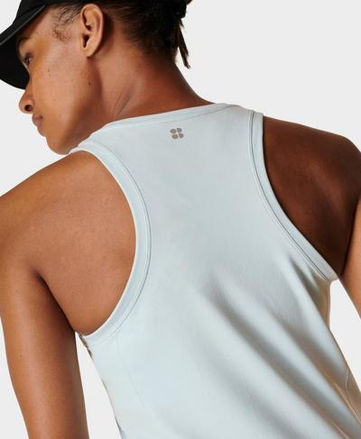 Athlete Seamless Gym Vest, Alpine Blue | Sweaty Betty