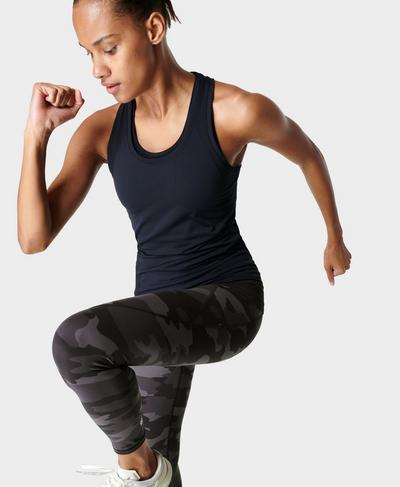 Athlete Seamless Gym Vest, Black | Sweaty Betty