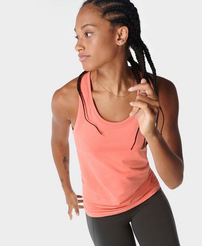Athlete Seamless Gym Vest, Blush Pink | Sweaty Betty
