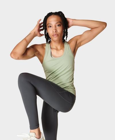 Athlete Seamless Gym Vest, Cereus Green | Sweaty Betty