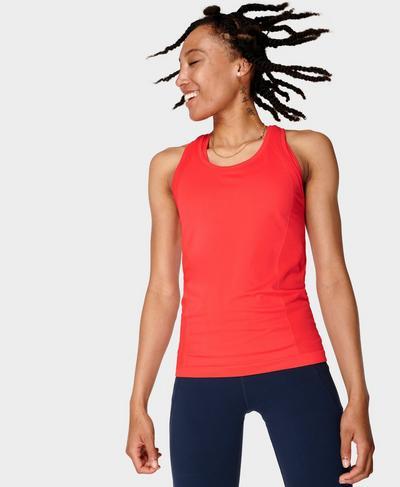 Athlete Seamless Gym Vest, Pentas Red | Sweaty Betty