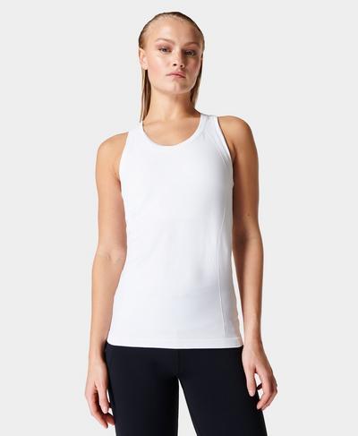 Athlete Seamless Gym Vest, White | Sweaty Betty