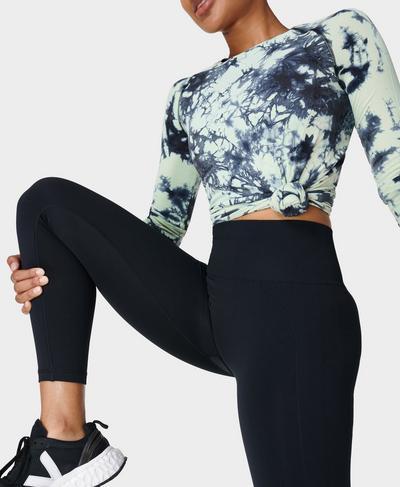 Athlete 7/8 Seamless Gym Leggings, Black | Sweaty Betty