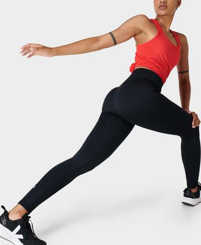 Athlete Seamless Gym Leggings, Black | Sweaty Betty