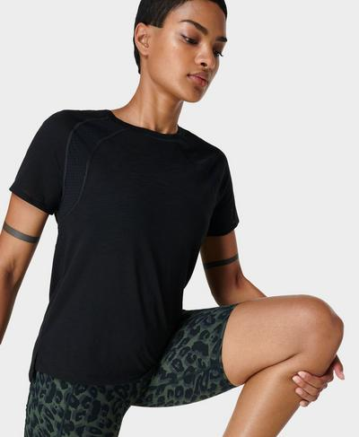 Breeze Running T-Shirt, Black | Sweaty Betty