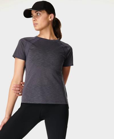 Breeze Running T-Shirt, Naval Grey | Sweaty Betty