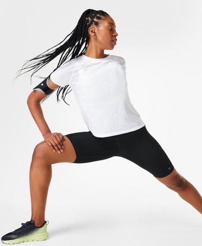 Breeze Running T-Shirt, White | Sweaty Betty