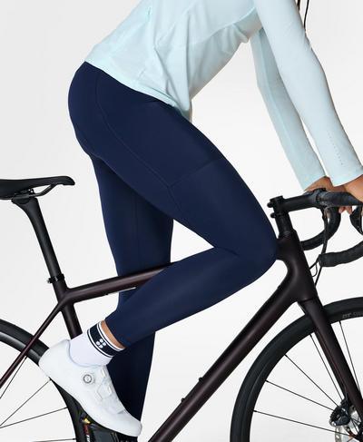 Velo Padded 7/8 Cycling Legging, Navy Blue | Sweaty Betty