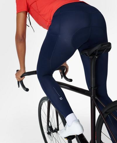 Velo Padded Cycling Legging, Navy Blue | Sweaty Betty