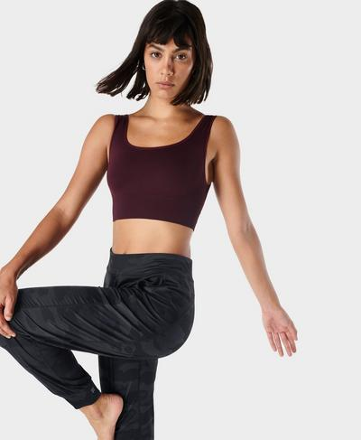 Balance Seamless Bra, Plum Red | Sweaty Betty