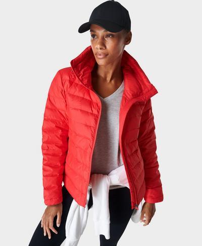 Leichte verstaubare Jacke Pathfinder, Pentas Red | Sweaty Betty