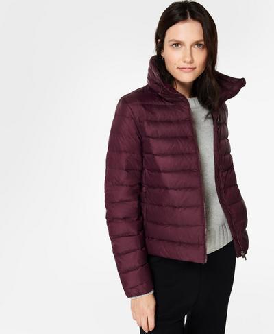 Pathfinder Packable Jacket, Plum Red | Sweaty Betty