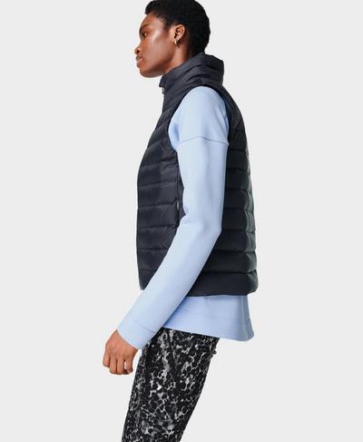 Pathfinder Packable Vest, Black | Sweaty Betty