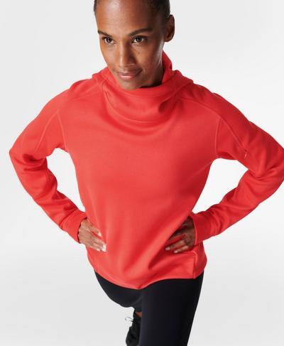 Sprinter Running Hoodie , Pentas Red | Sweaty Betty