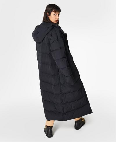 Reversible Duvet Coat, Black   Sweaty Betty