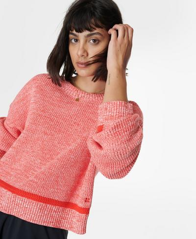 Sunday Marl Knitted Sweater, Pentas Red | Sweaty Betty