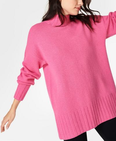 Mountain Wool Jumper, Camellia Pink   Sweaty Betty