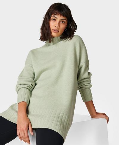 Mountain Wool Jumper, Cereus Green | Sweaty Betty