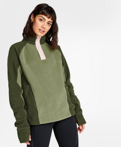 Altitude Thermal Sweatshirt, Mountain Green   Sweaty Betty
