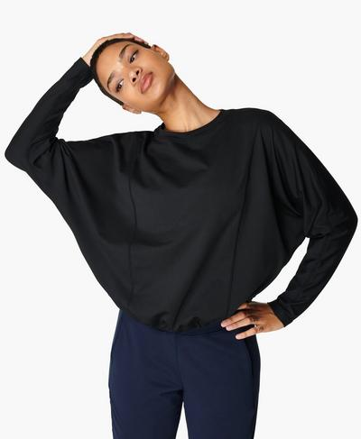 Gary Yoga-Pullover, Black | Sweaty Betty
