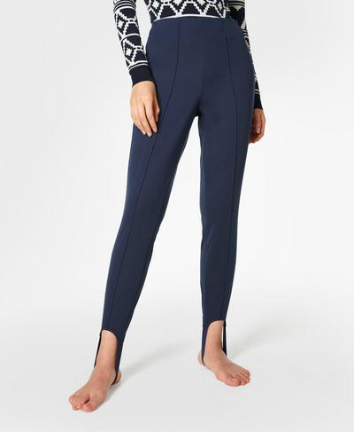 Off Piste Stirrup Pants, Navy Blue | Sweaty Betty